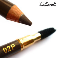 Карандаш для бровей пудровый LaCordi Professional №02P Кора дерева со щеточкой